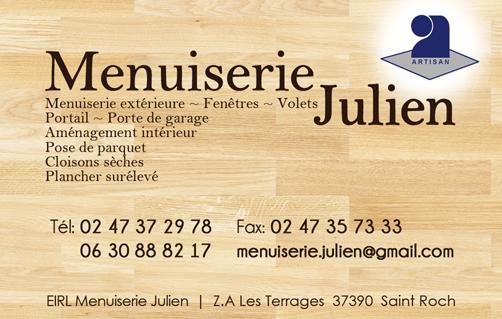 Carte De Visite Menuiserie Julien