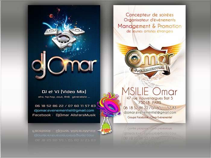 Carte De Visite DJ Omar Logo