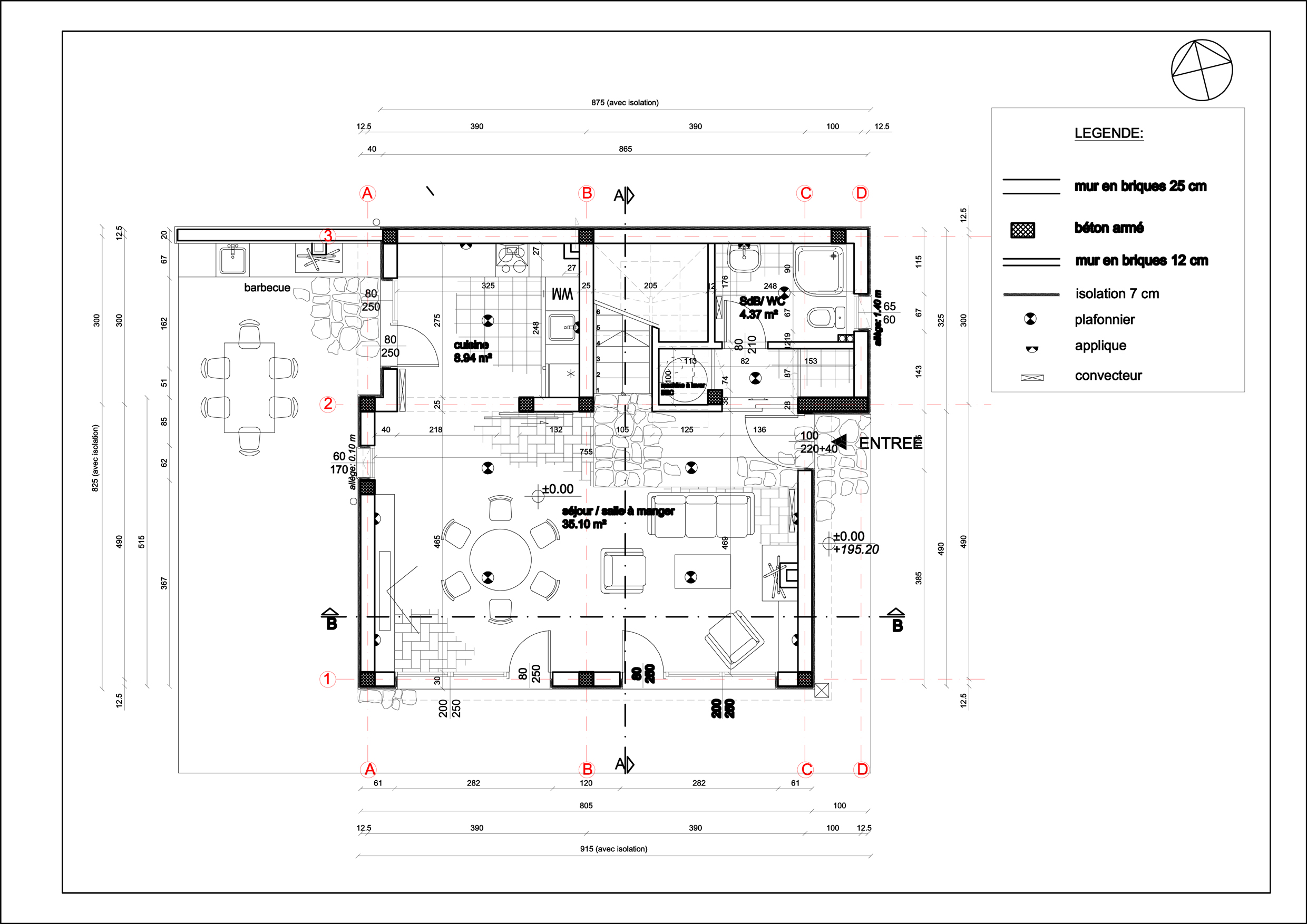 dessin de maison architecte amazing plan maison architecte d un outil de pour dessiner. Black Bedroom Furniture Sets. Home Design Ideas