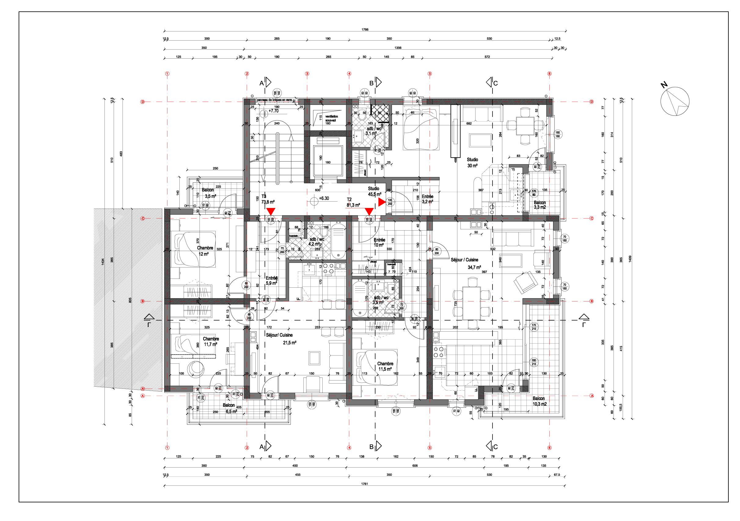 le dessin d architecture d int rieur javier jim nez david. Black Bedroom Furniture Sets. Home Design Ideas