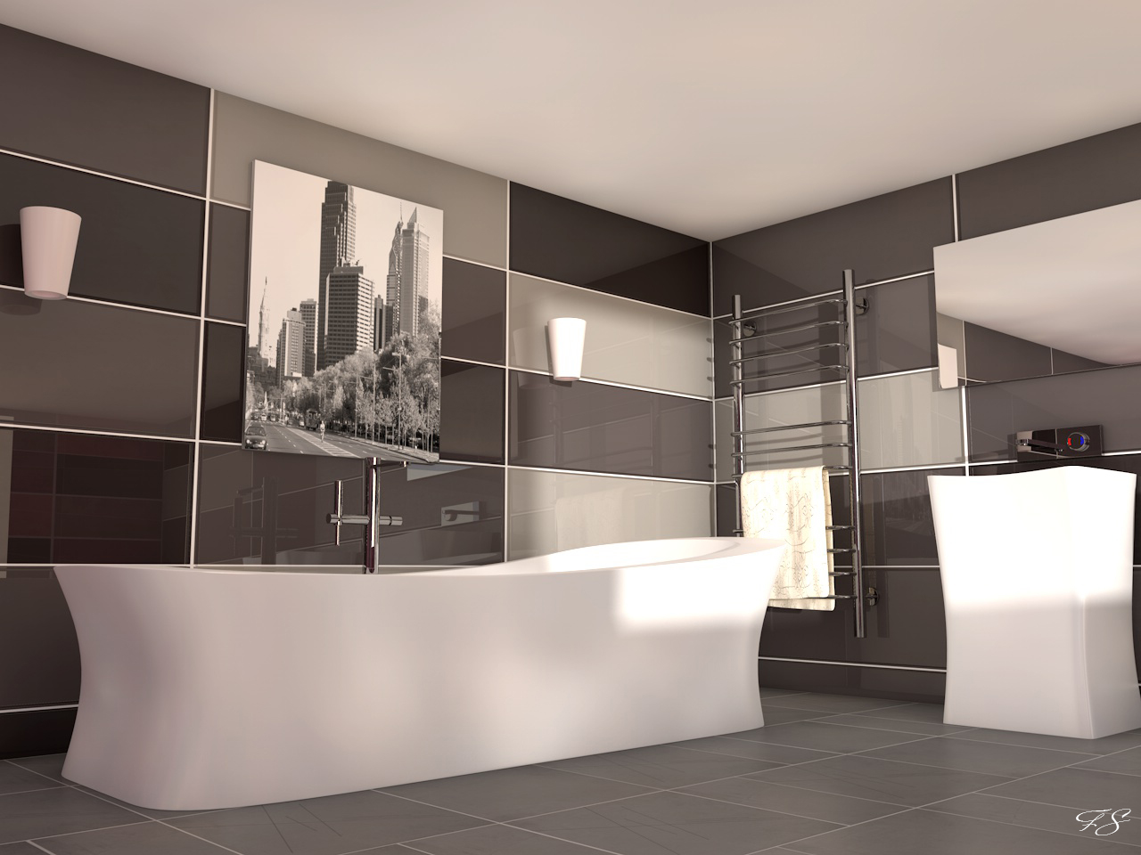 salle de bain orientale design avec des. Black Bedroom Furniture Sets. Home Design Ideas