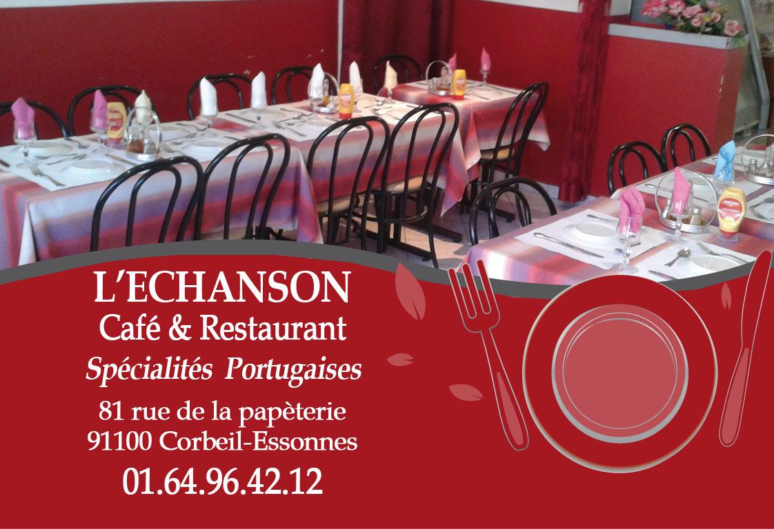Cartes De Visite Pour Un Cafe Restaurant