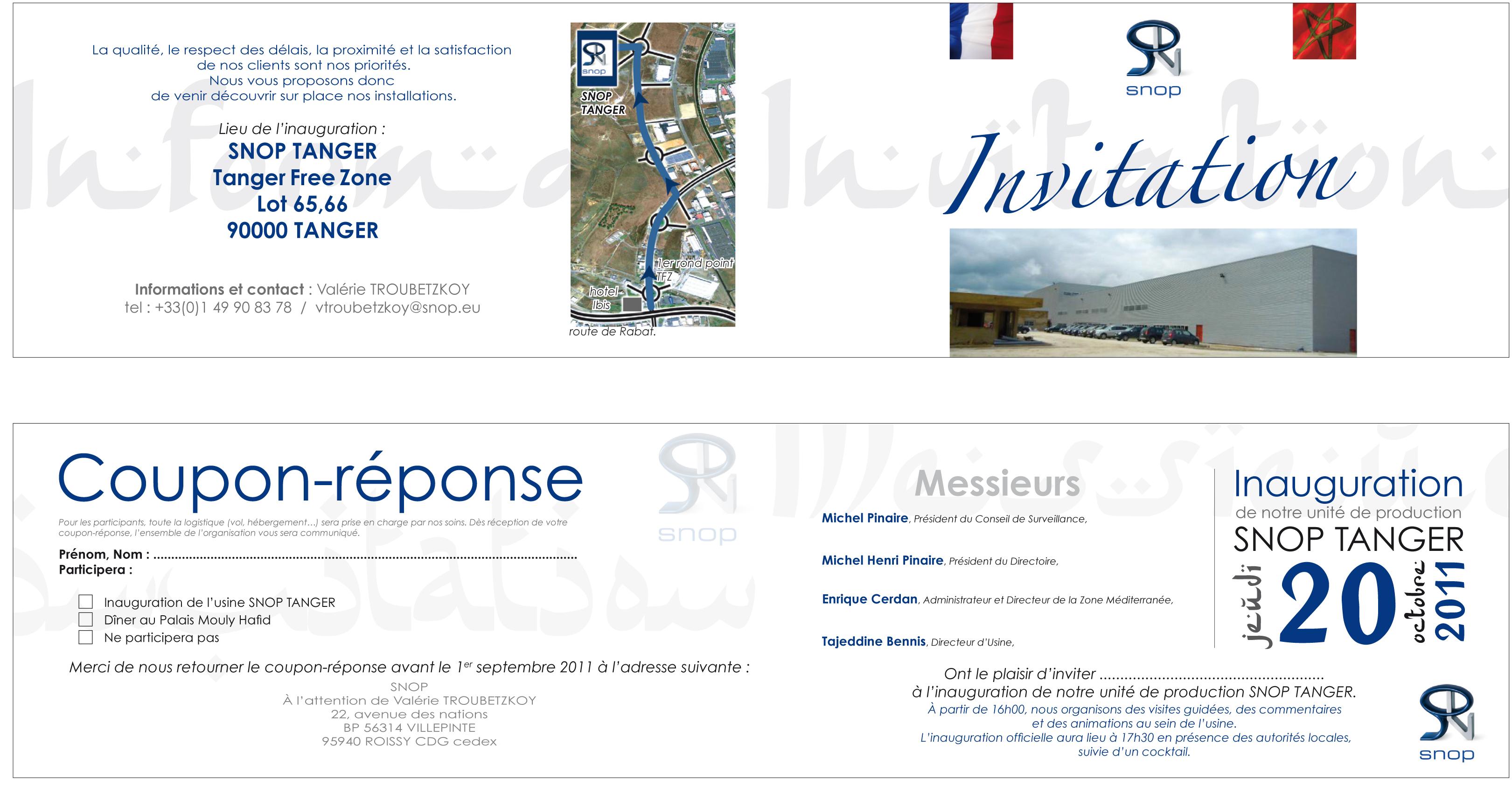 Souvent création d'un carton d'invitation pour l'inauguration d'un  AP12
