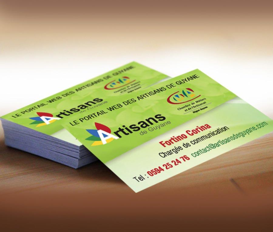 Design De Carte Visite Pour Le Portail Artisans Guyane Franaise
