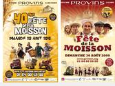 Affiches de la fête de la moisson de Provins, plus grand rassemblement rural de France.